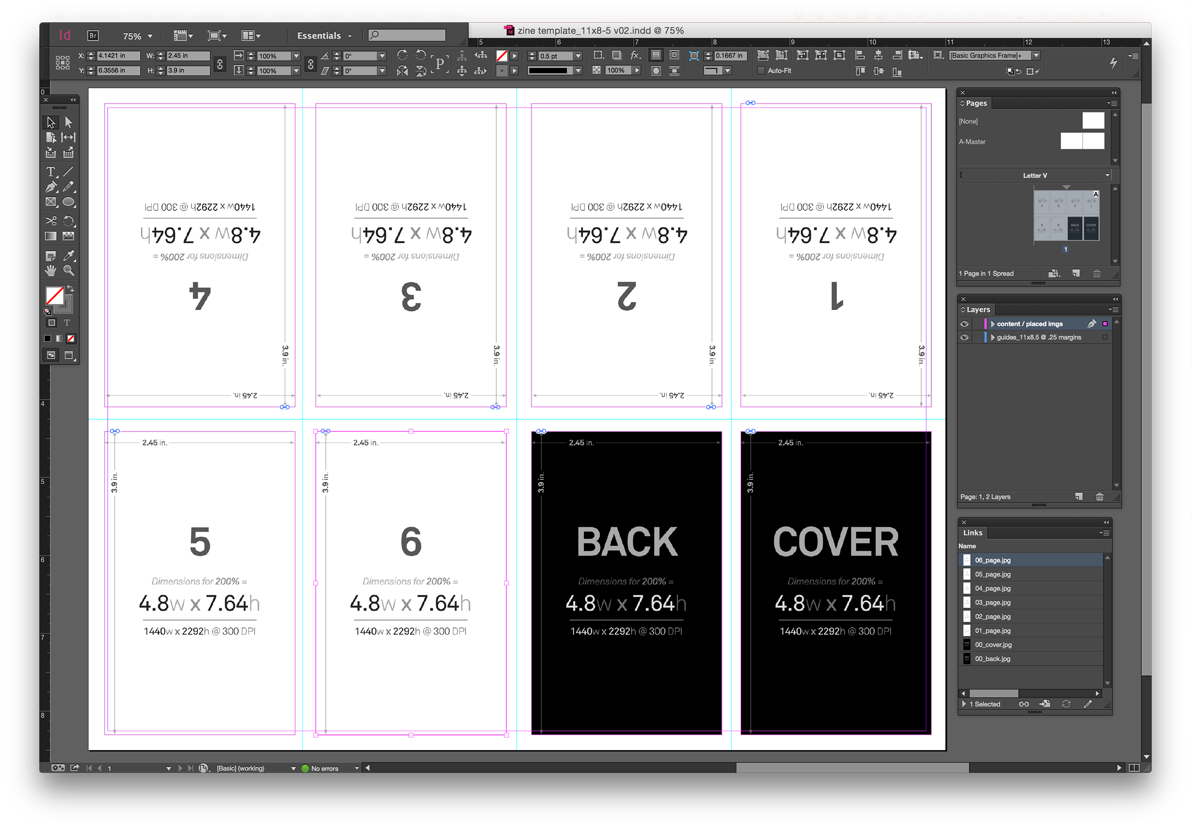 Zine Template Layout Document Umami Design Studio