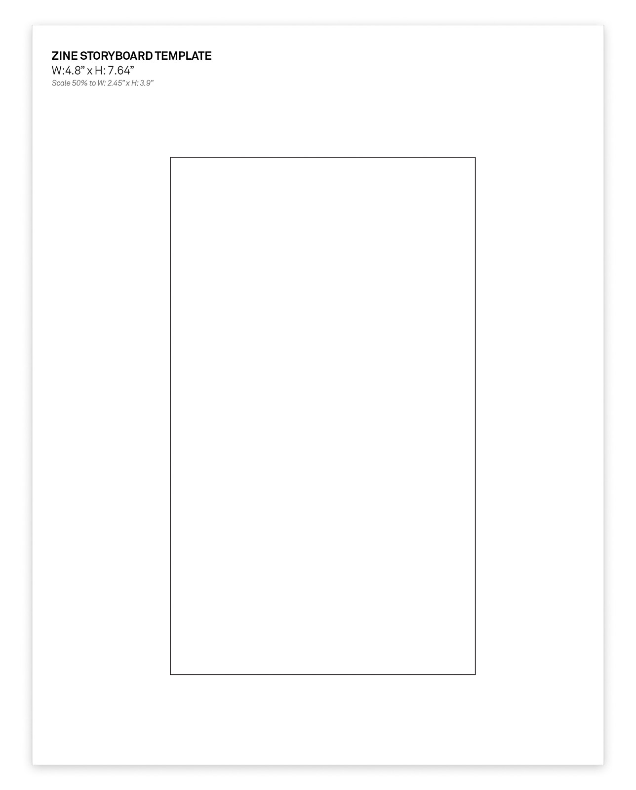 Zine Template + Layout Document @ Umami Design Studio